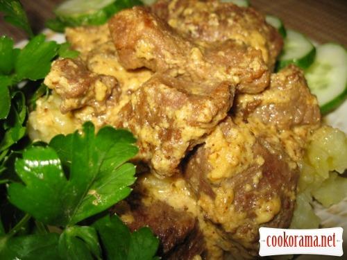 Мясо под экзотическим соусом