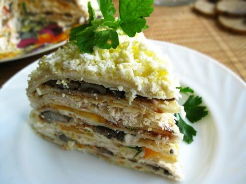 Закусочний млинцевий торт