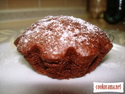 Шоколадно-яблочные кексики