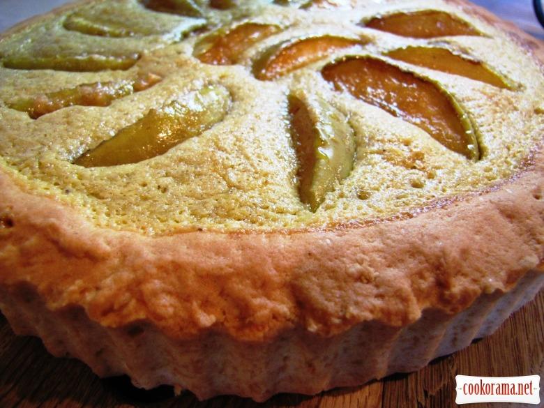 Яблучний пиріг зі сметанковою заливкою