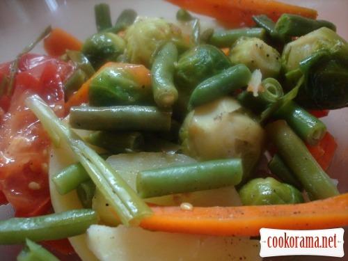 Овощное рагу на пару