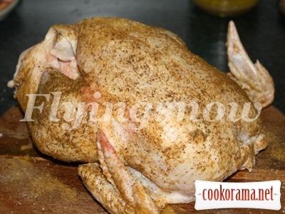 Курица с грибами в рукаве