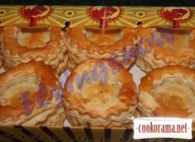 Тарталетки с печенью трески