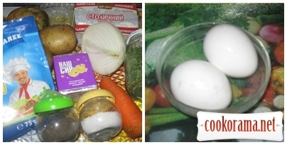 Суп з плавленого сирка і яєць