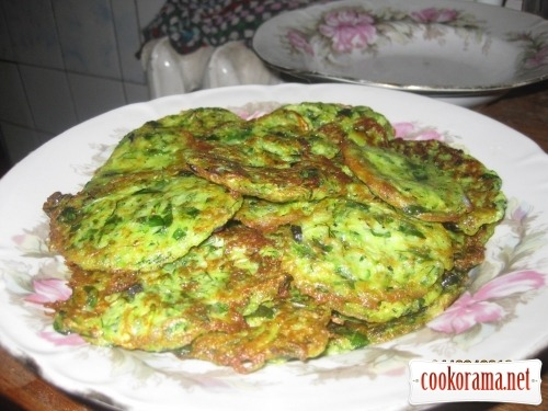 Pancakes from zucchini