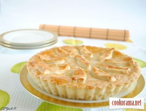 Пиріг з плавленими сирками
