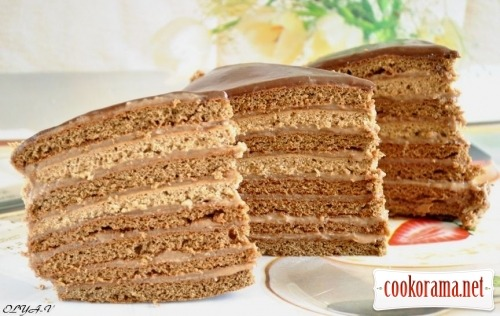 Chocolate honey cake «Ladies fancy»