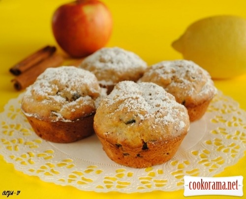 Banana-apple muffins «Good morning»