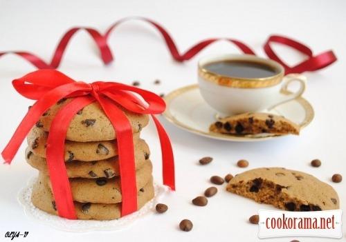 Кофейное печенье с шоколадными каплями