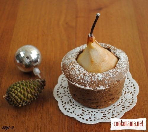Cakes «Pear in chocolate»