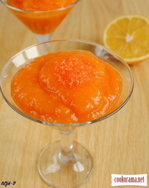 Гарбузово-апельсиновий кисіль