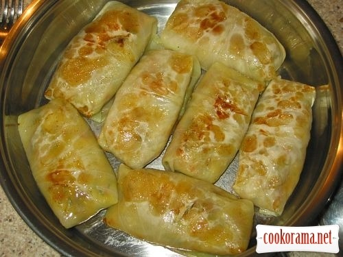 Meatless cabbage rolls