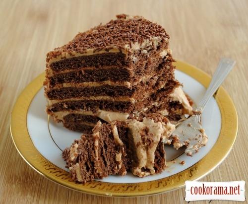 Шоколадно-медовый торт «Сказка»