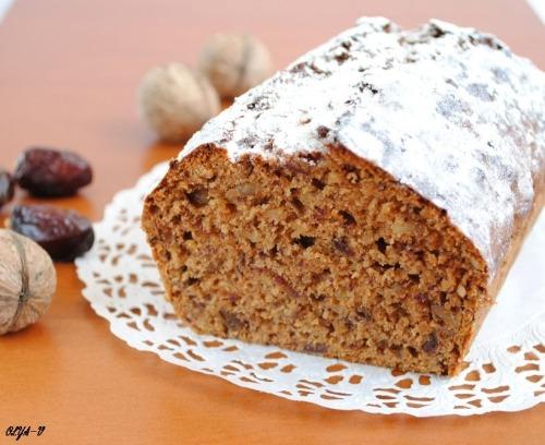 Финиковый кекс с орехами