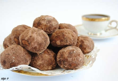 "Cookies ""chocolate-nut truffles"""