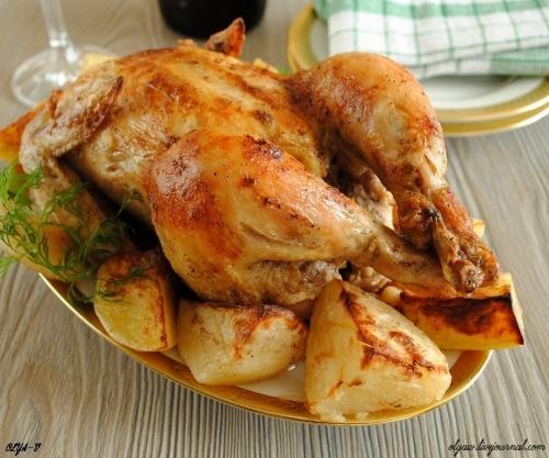 Курча запечене з картоплею
