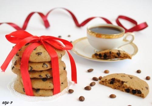 Кавове печиво з шоколадними краплями