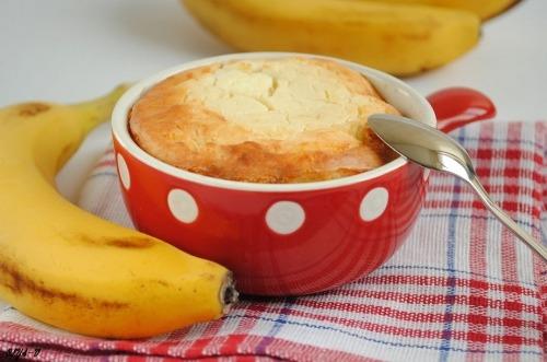 Curd-banana baking-souffle
