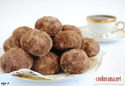"""Печиво """"шоколадно-горіхові трюфелі"""""""