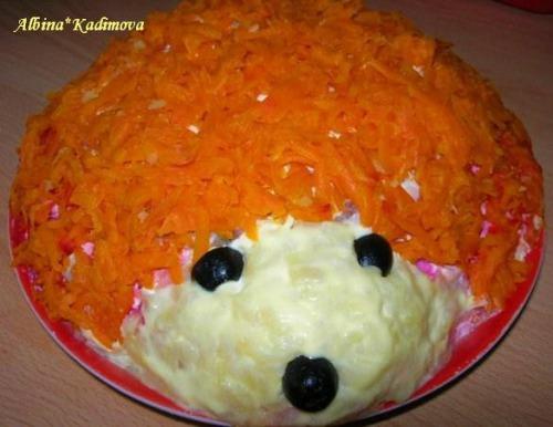 """""""Ежик"""" салат сельдь под шубой"""