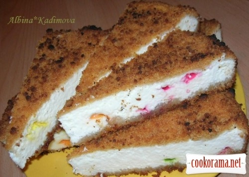 Royal cheesecake with marmalade