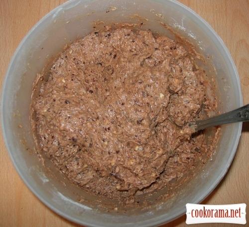 Шоколадні мафіни з начинкою з адигейського сиру