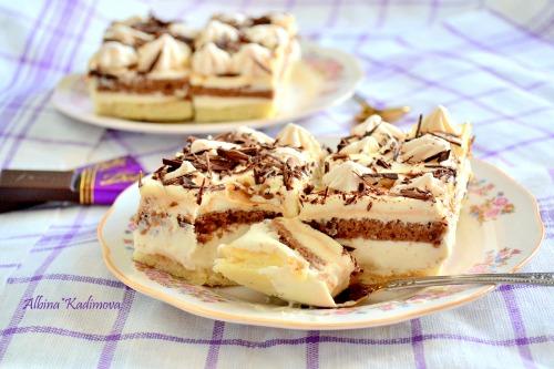 Карамельно-ванильное пирожное