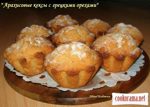 Арахісові кекси з волоськими горіхами