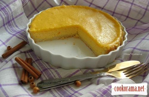 Lemon-pumpkin ricotta tart