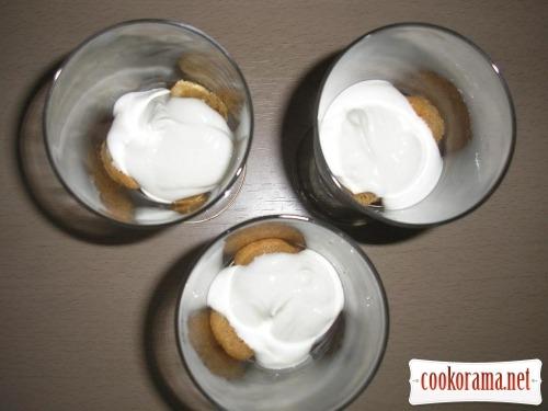 Dessert with nectarines