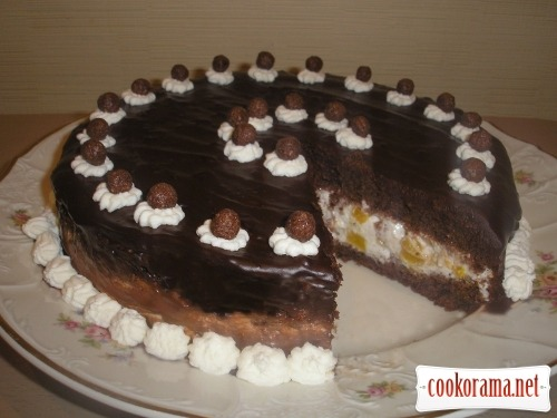 Торт Персики в шоколаде