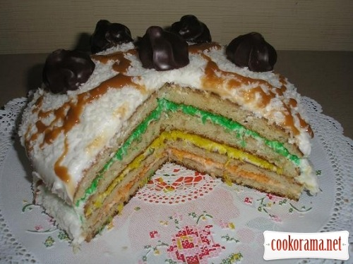 Cake «Coconut traffic light»
