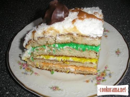 Торт «Кокосовый светофор»