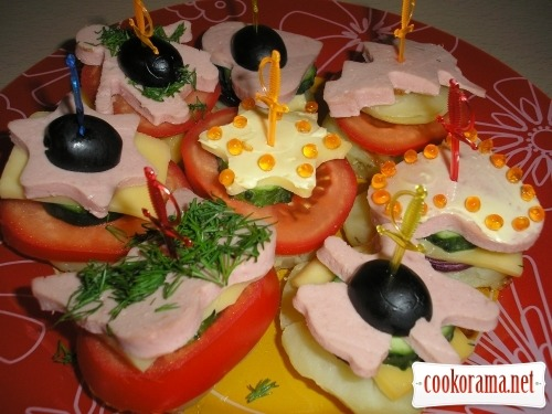 Canapés for children