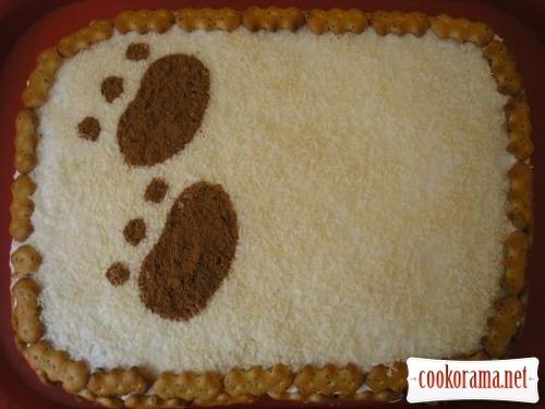 Cake «Clumsy bear»