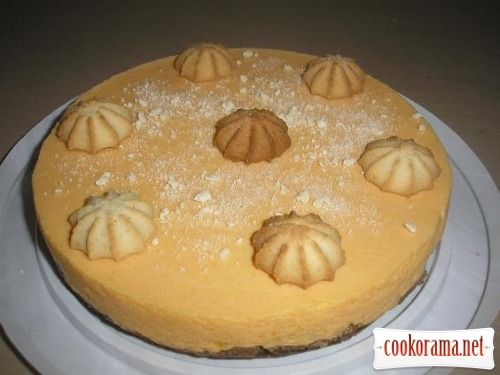 Pumpkin cheesecake without baking