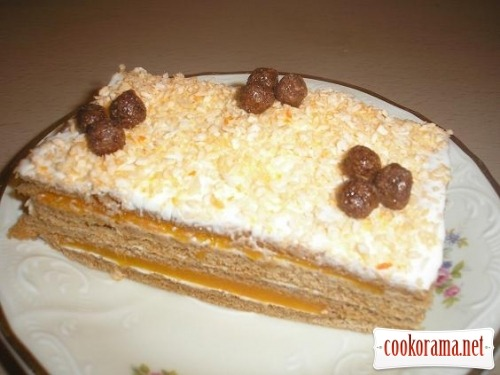 Cake with pumpkin