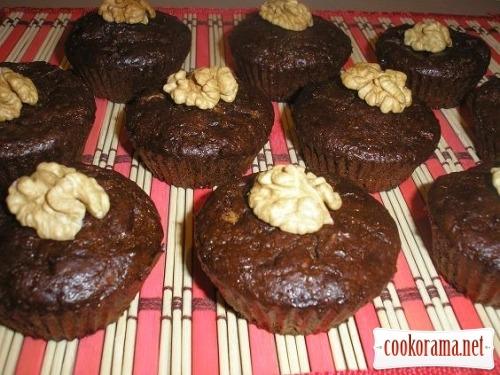 Кексы с орехами и белым шоколадом