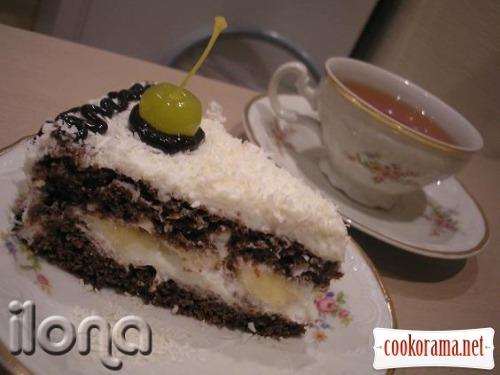 Торт кокосово-банановый