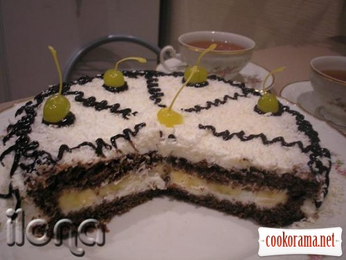Торт кокосово-банановий