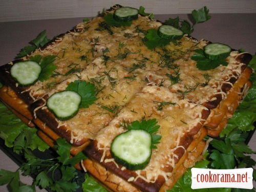 Lasagna from crackers