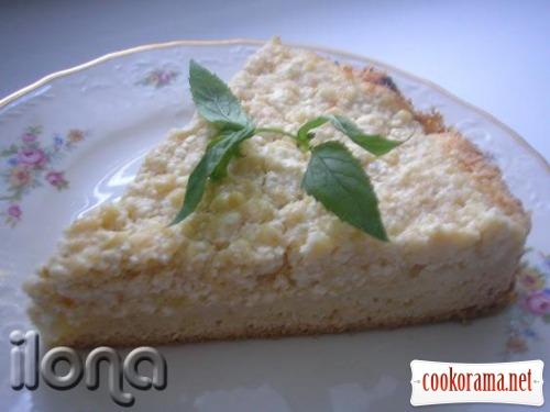 Сирно-яблучний пиріг