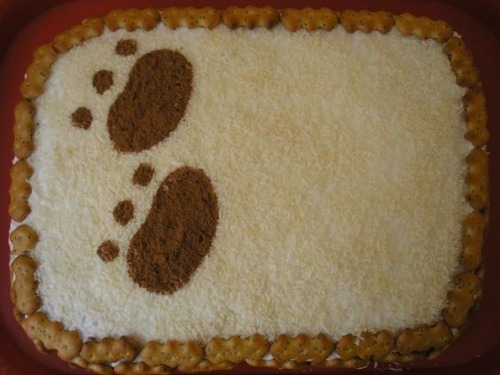 "Cake ""Clumsy bear"""