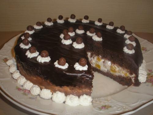 """Торт """"Персики в шоколаде"""""""