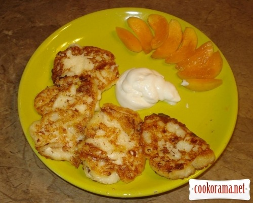Летние сырники с абрикосками