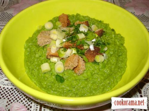 Гороховый суп-пюре «Зелено»