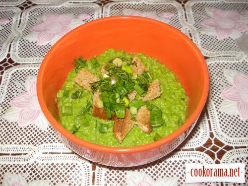 Гороховий суп-пюре «Зелено»