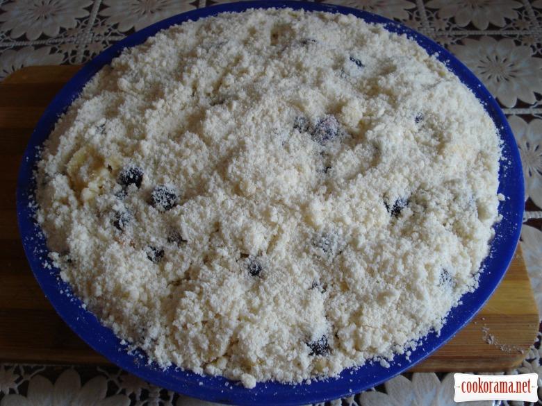Тертий фруктовий пиріг !!!
