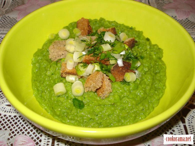 """Гороховый суп-пюре """"Зелено"""""""