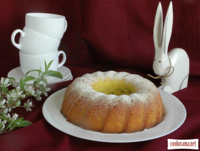 Пасхальный кекс с маком и вишнями